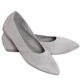 Baleriny damskie szare NK19P Grey