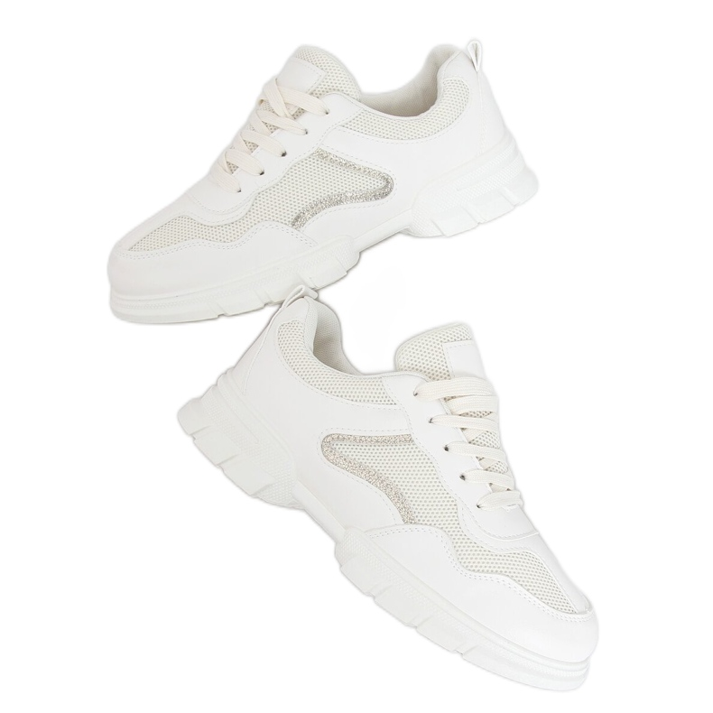 Buty sportowe beżowe 3157 Beige beżowy