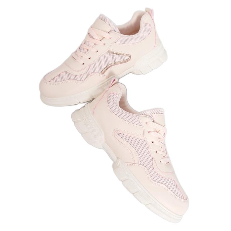 Buty sportowe różowe 3157 Pink