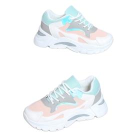 Buty sportowe wielokolorowe YL-25 White Pink białe różowe
