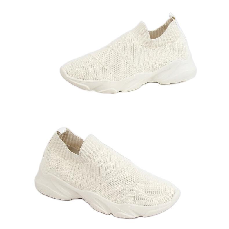 Buty sportowe skarpetkowe beżowe NB399 Beige beżowy