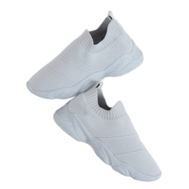 Buty sportowe skarpetkowe szare NB399 Grey