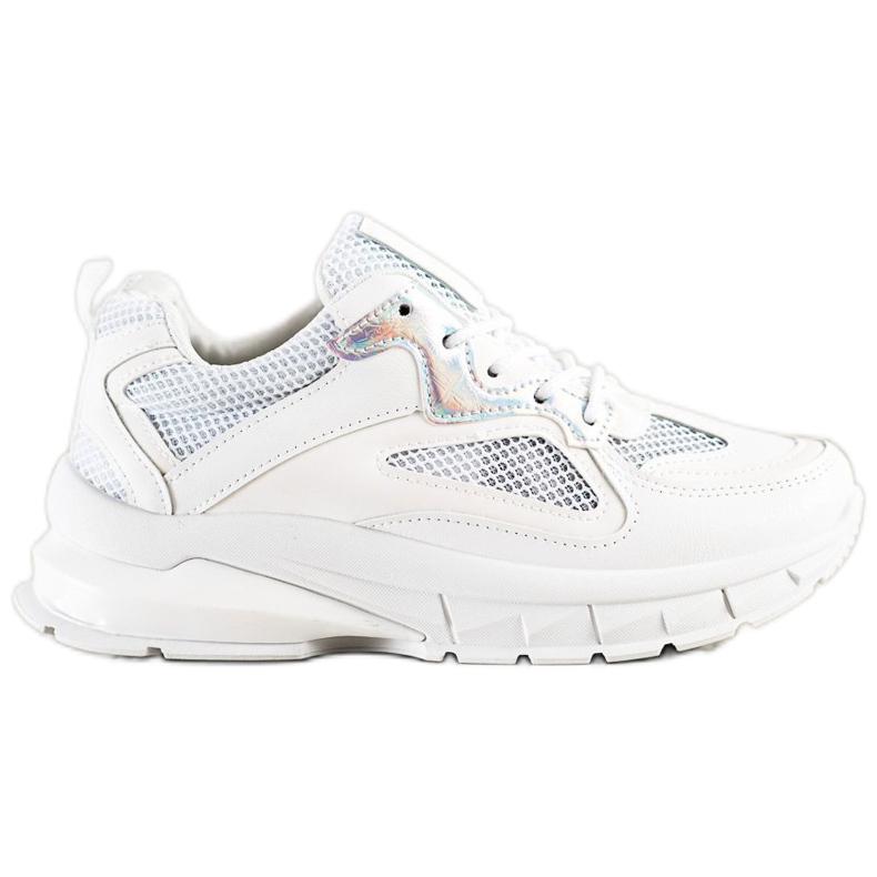 SHELOVET Białe Sneakersy Na Platformie