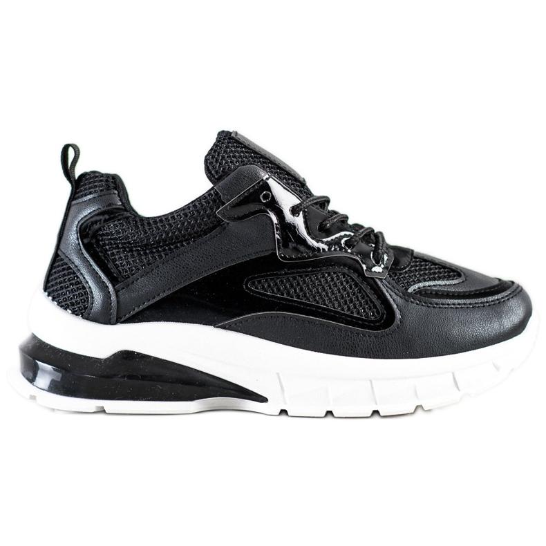 SHELOVET Czarne Sneakersy Na Platformie