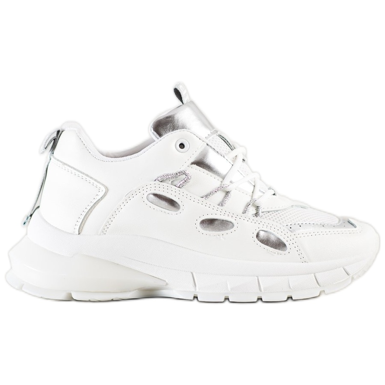 SHELOVET Stylowe Sneakersy Z Eko Skóry białe