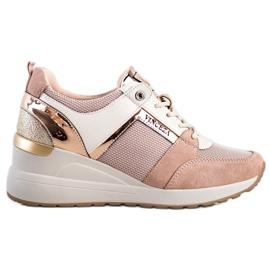 Stylowe Sneakersy VINCEZA różowe
