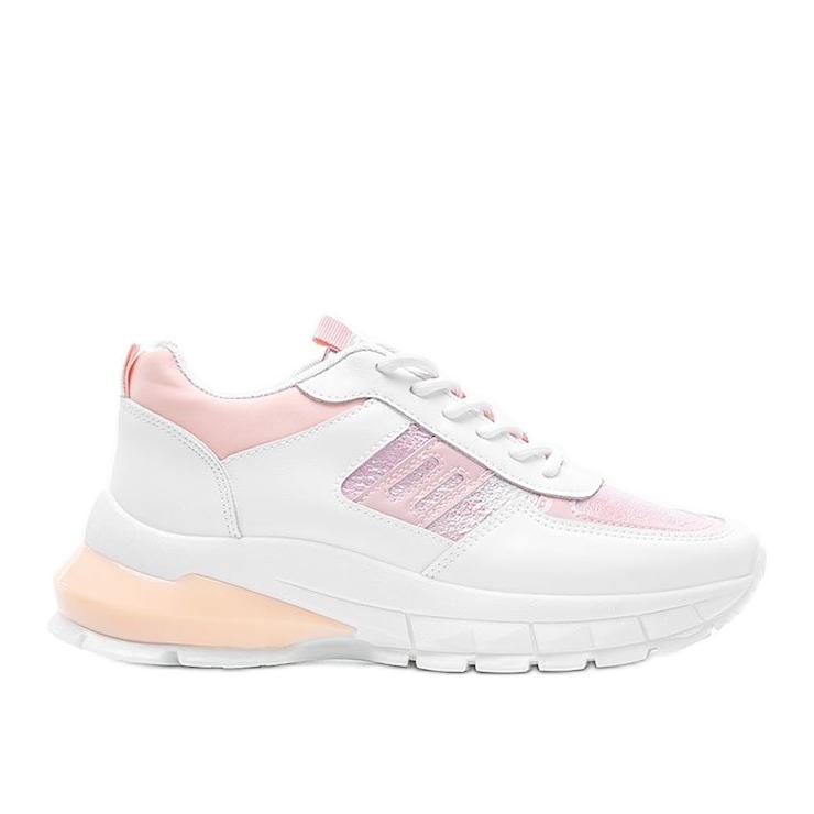 Biało-różowe sneakersy sportowe Dana białe