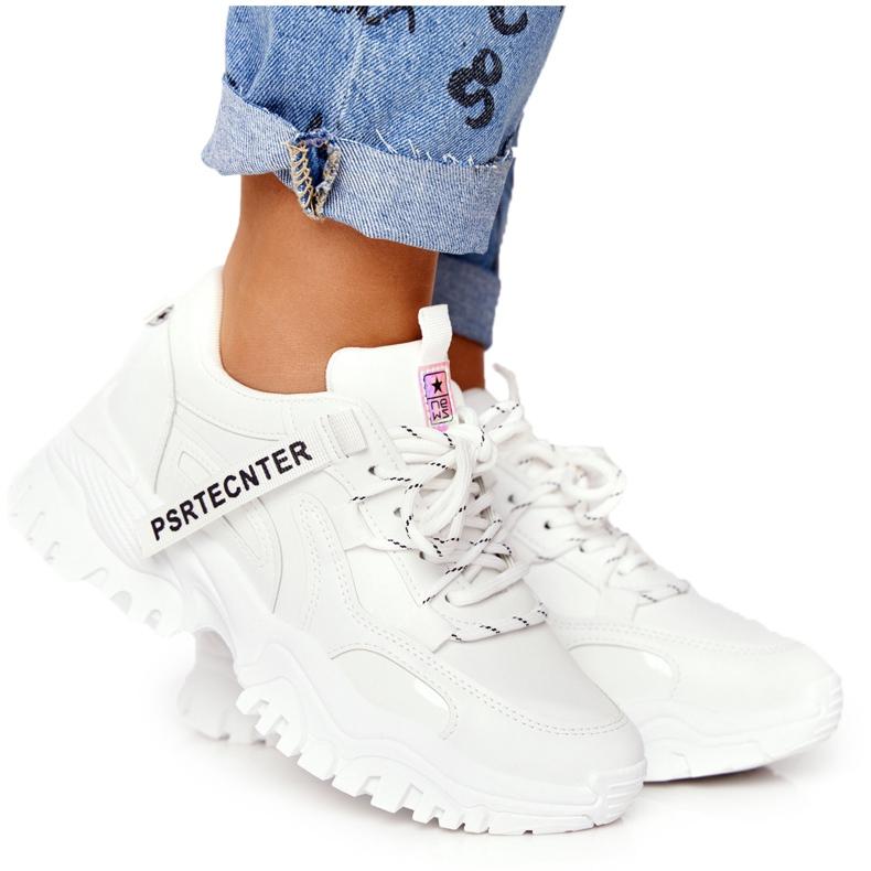 Evento Damskie Sneakersy Na Masywnej Podeszwie Białe Laugh