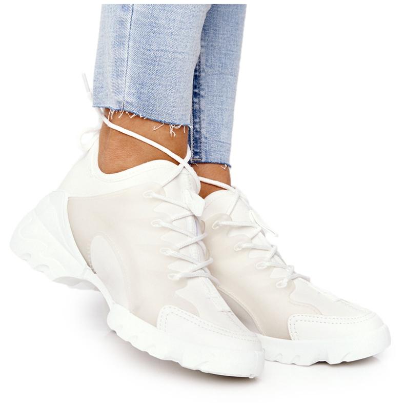 PS1 Damskie Sportowe Buty Sneakersy Białe Born This Way