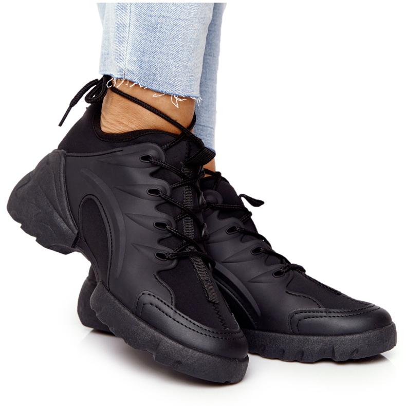 PS1 Damskie Sportowe Buty Sneakersy Czarne Born This Way