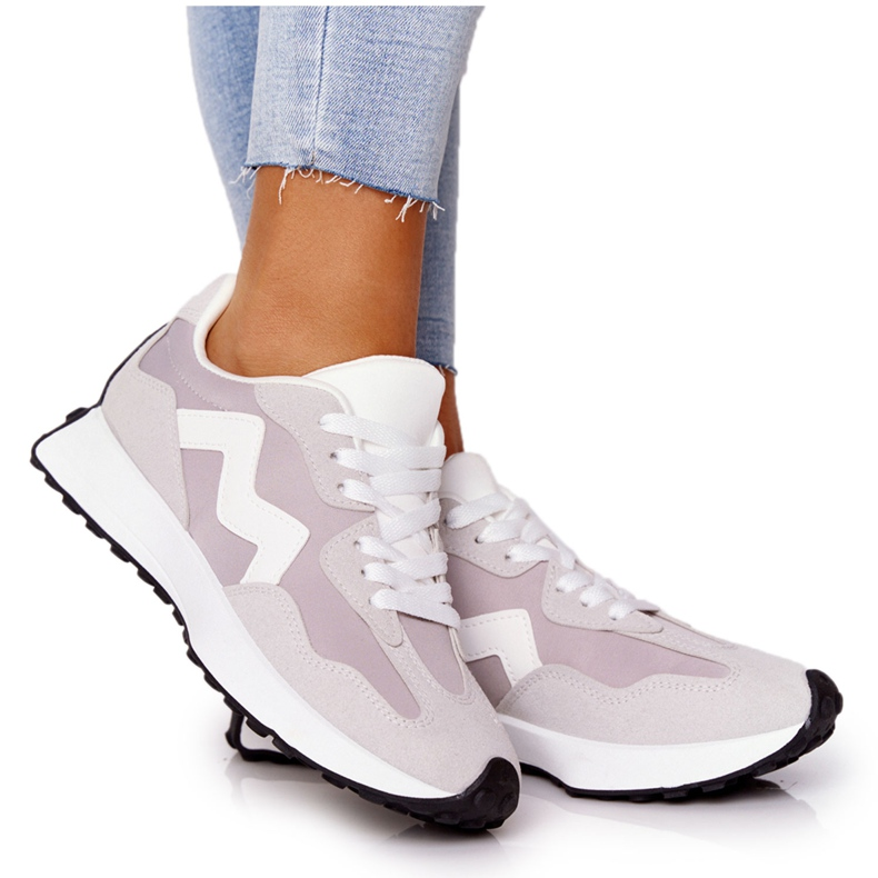 PS1 Damskie Sportowe Buty Sneakersy Szare Move On