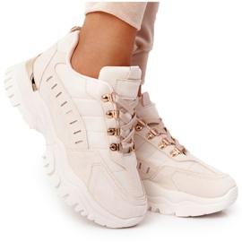PS1 Damskie Sneakersy Na Dużej Podeszwie Beżowe Good Mood beżowy