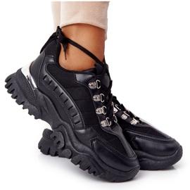 PS1 Damskie Sneakersy Na Dużej Podeszwie Good Mood czarne