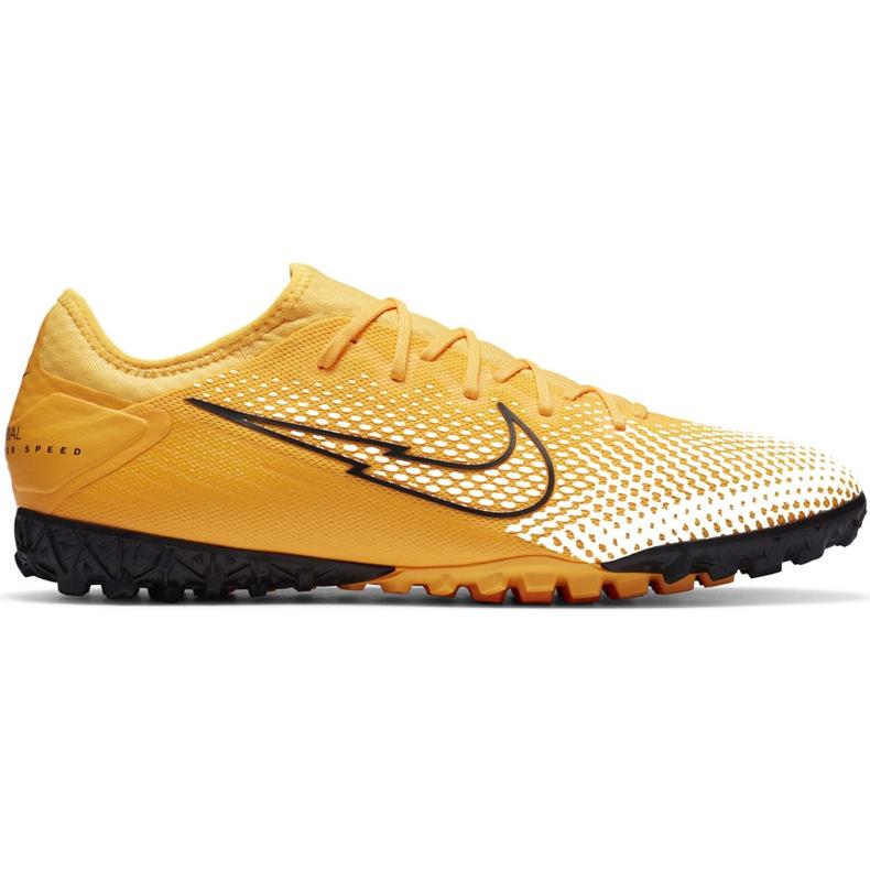 Buty piłkarskie Nike Mercurial Vapor 13 Pro Tf AT8004 801 pomarańczowe żółte