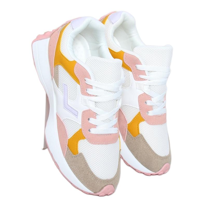 Buty sportowe wielokolorowe BL209P Pink białe różowe żółte