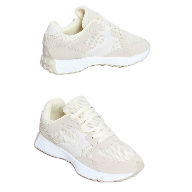 Buty sportowe beżowe BL209P Beige beżowy