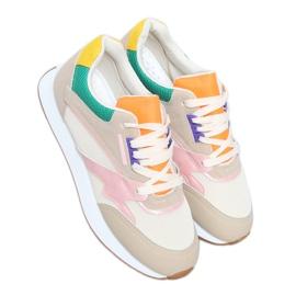 Buty sportowe damskie wielokolorowe NB372 Beige beżowy różowe zielone żółte