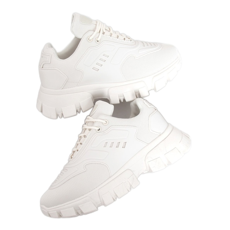Buty sportowe beżowe LA155P Beige beżowy