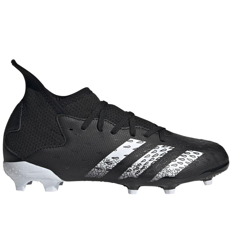 Buty piłkarskie adidas Predator Freak.3 Fg Junior FY1031 czarne czarne