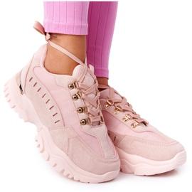 PS1 Damskie Sneakersy Na Dużej Podeszwie Różowe Good Mood