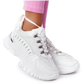 PS1 Damskie Sneakersy Na Dużej Podeszwie Białe Good Mood