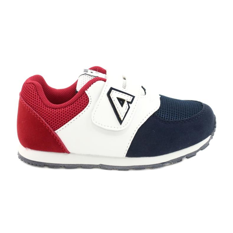 American Club Buty sportowe wkładka skórzana American BS01 BS02 Navy białe czerwone granatowe