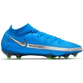 Buty piłkarskie Nike Phantom Gt Elite Dynamic Fit Fg M CW6589 400 niebieskie niebieskie