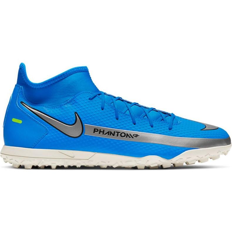 Buty piłkarskie Nike Phantom Gt Club Df Tf M CW6670 400 niebieskie niebieskie