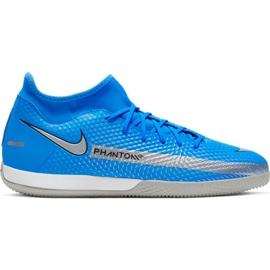 Buty piłkarskie Nike Phantom Gt Academy Df Ic Jr CW6693 400 niebieskie niebieskie