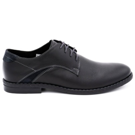 Lukas Eleganckie buty męskie 253LU czarne