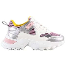 SHELOVET Modne Sneakersy wielokolorowe