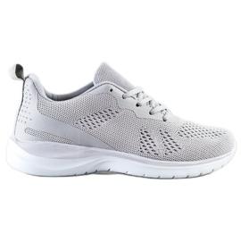 Bona Lekkie Szare Sneakersy