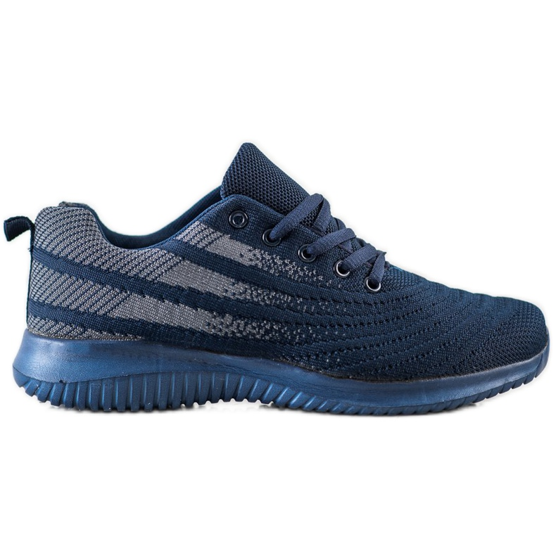 Bona Lekkie Granatowe Buty Sportowe niebieskie