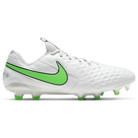 Buty piłkarskie Nike Tiempo Legend 8 Elite Fg M AT5293 030 białe białe