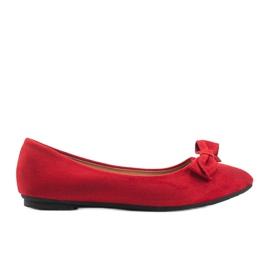 Czerwone balerinki zamszowe Ellie