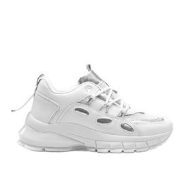 Białe sneakersy z srebrnymi wstawkami Guadalupe
