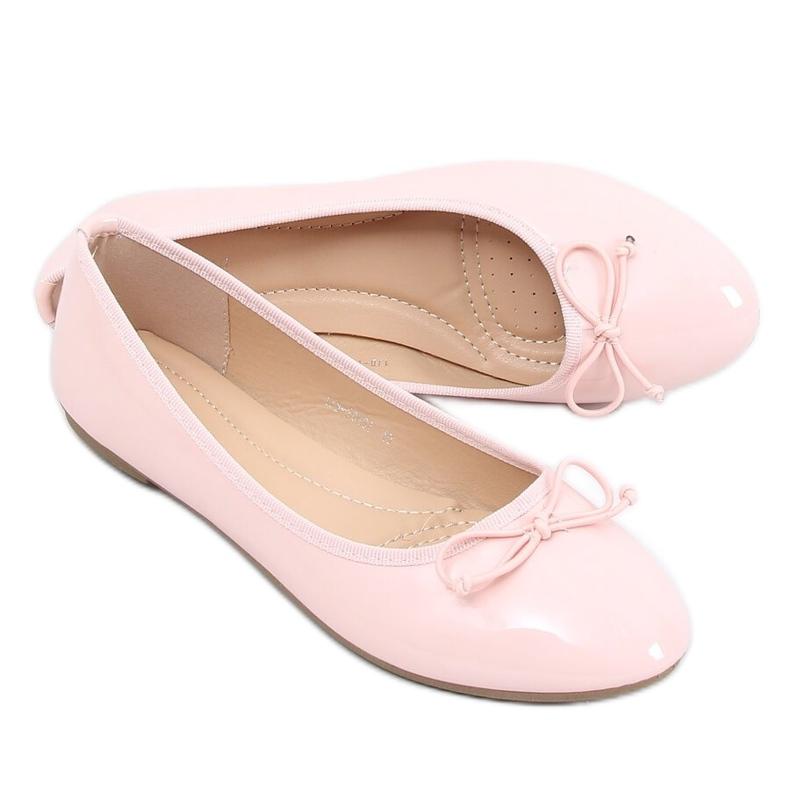 Baleriny lakierowane różowe 1JB-18181 Pink