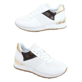 Buty sportowe damskie białe J2140 WHITE/BROWN