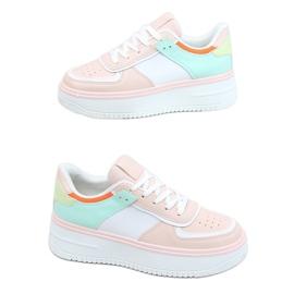 Buty sportowe damskie wielokolorowe 205062 PINK/GREEN różowe zielone