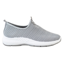SHELOVET Lekkie Wsuwane Sneakersy szare