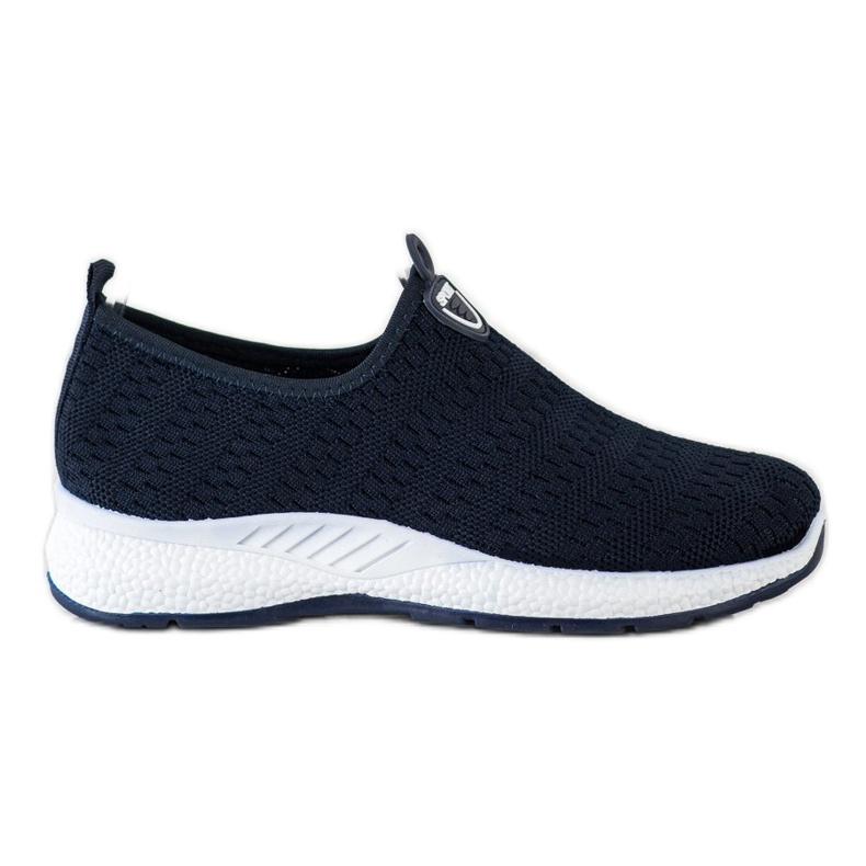 SHELOVET Lekkie Wsuwane Sneakersy granatowe