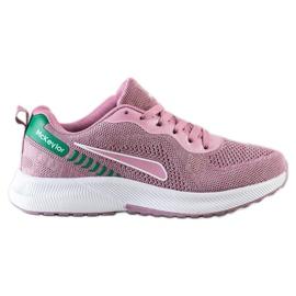 Mckeylor Sznurowane Buty Sportowe różowe zielone