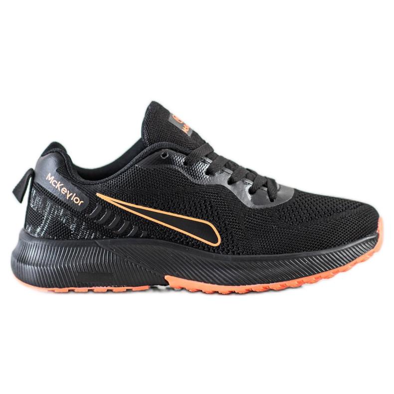 Mckeylor Sznurowane Buty Sportowe czarne pomarańczowe