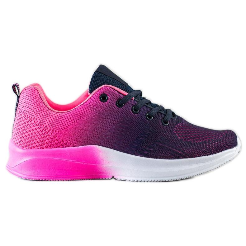 Bona Sneakersy Z Efektem Ombre fioletowe granatowe różowe