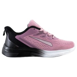 Bona Ażurowe Sneakersy Na Wiosnę czarne fioletowe różowe