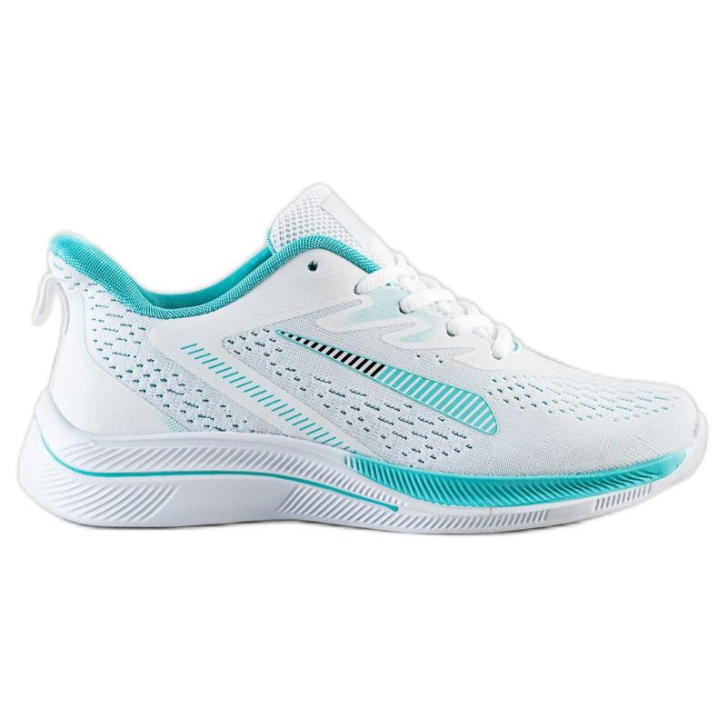 Bona Ażurowe Sneakersy Na Wisonę białe zielone