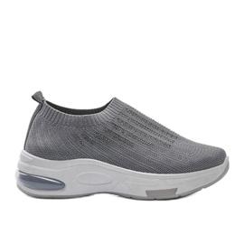 Szare sneakersy sportowe wsuwane Lolly
