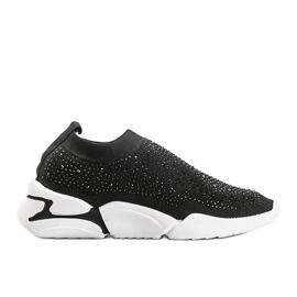 Czarne obuwie sportowe wsuwane Eva