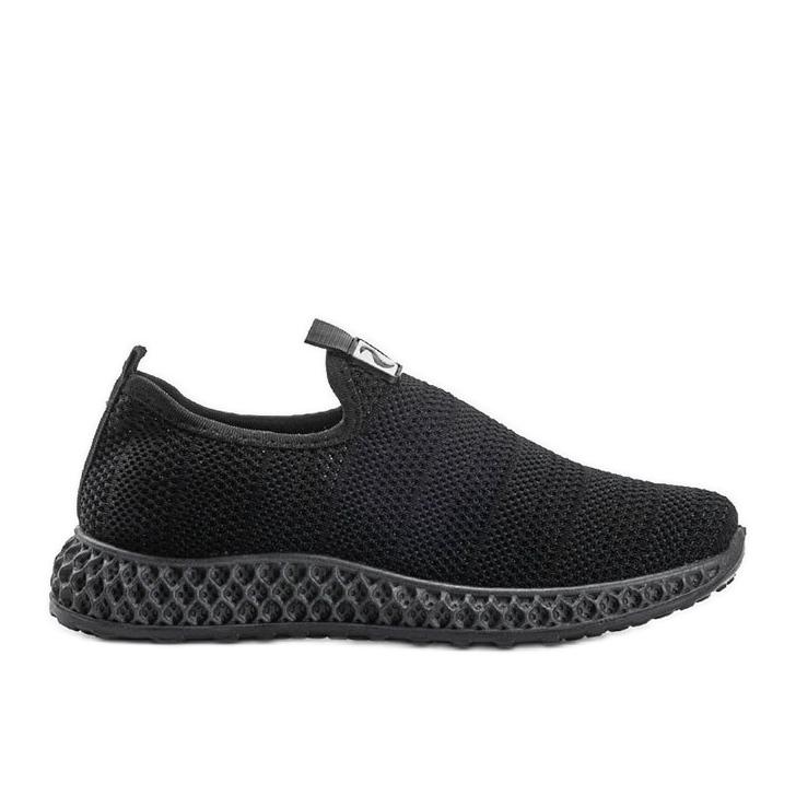 Czarne obuwie sportowe wsuwane Katy