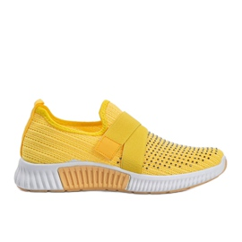 Żółte obuwie sportowe wsuwane Akira